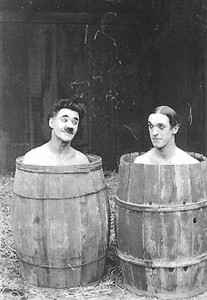 "Stan Laurel (right) in ""No Place Like Jail"" 1918"